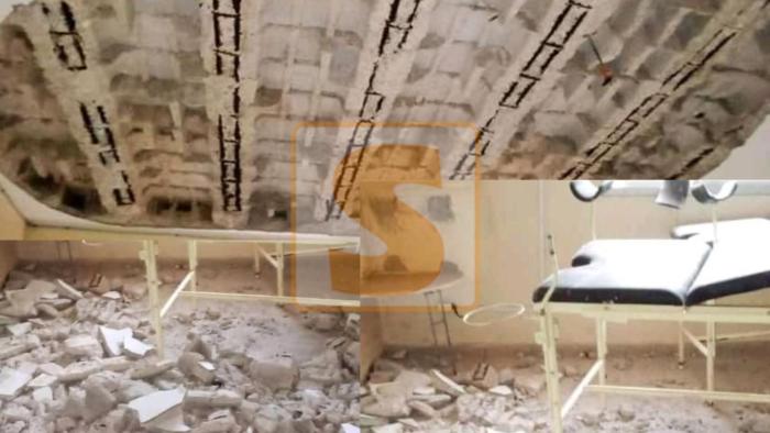 La dalle de la salle d'accouchement de la maternité de Dalifort Forail s'effondre (Photos)