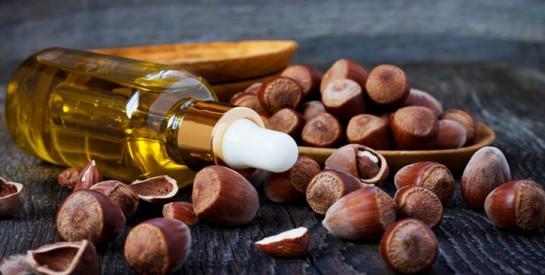 L'huile de noisette, bonne pour votre peau